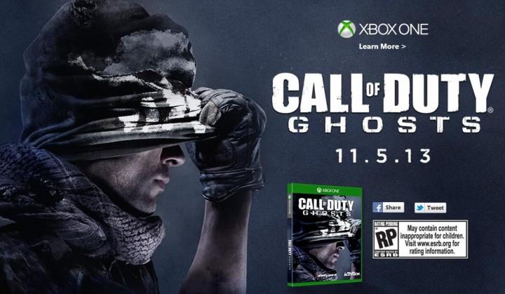 PS4/Xbox One版『CoD:ゴースト』の発売日は11月5日!Xbox Oneも同時発売!?