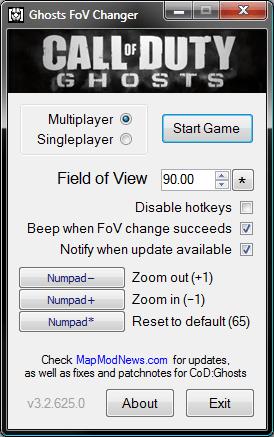 CoD:ゴースト:IW、FOV値の変更を容認