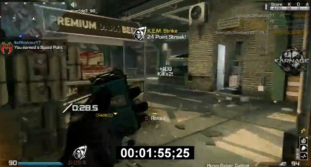 CoD: ゴースト:1分台でKEM!喜びのあまり絶叫する海外プレイヤー
