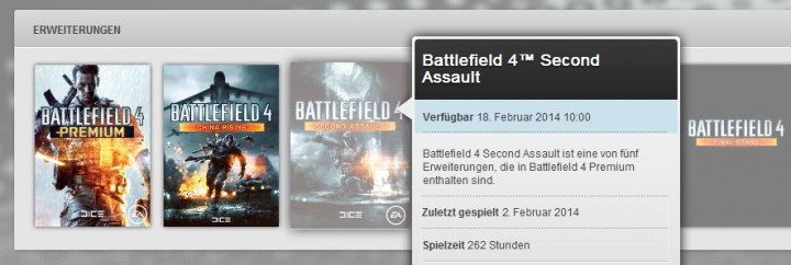 "BATTLEFIELD 4 DLC""Second Assault ""は2月18日か?ドイツのOriginからリーク"