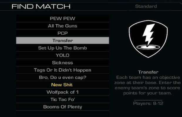 CoD: ゴースト:プレイリストの名称が謎の言葉に!