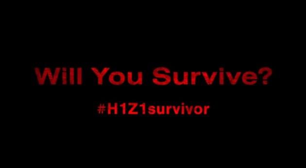 H1Z1 公式サイトでコナミコマンドを使用すると謎のイメージと映像が出現