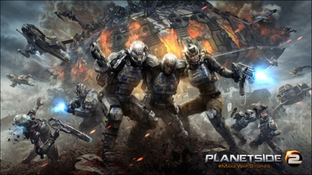2000人対戦の無料FPS『Planetside 2』、PS4のクローズドベータ受付開始