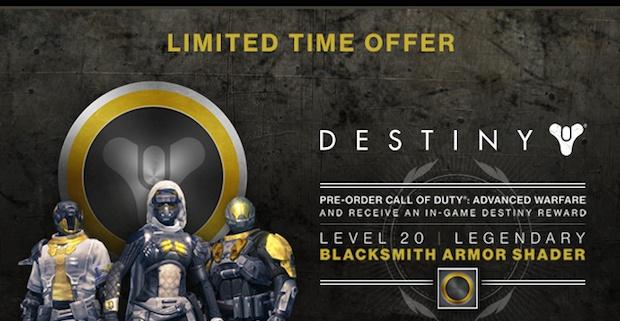 『CoD:AW』を予約すると『Destiny』のレアなアーマーシェーダーをゲット?! Gamestopでユニークなキャンペーン