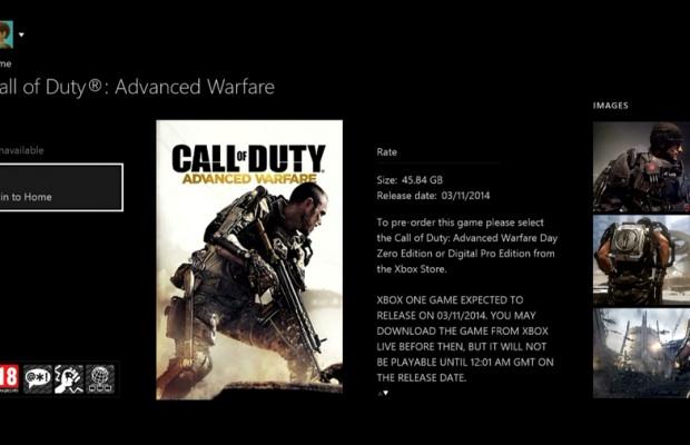 『Call of Duty: Advanced Warfare(コール オブ デューティ アドバンスド・ウォーフェア)』容量は45.84GB