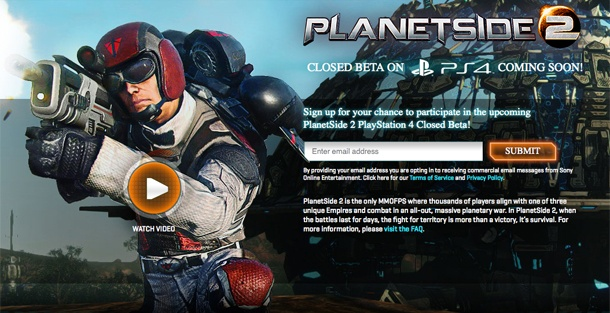 2000人対戦の無料FPS『Planetside 2』、PS4版