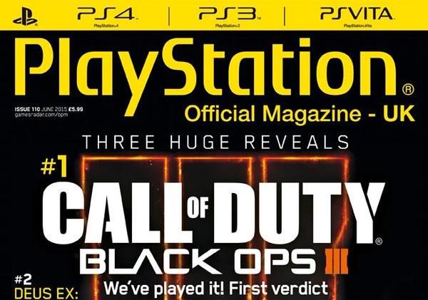 PlayStation公式マガジンの表紙に『CoD:BO3』登場
