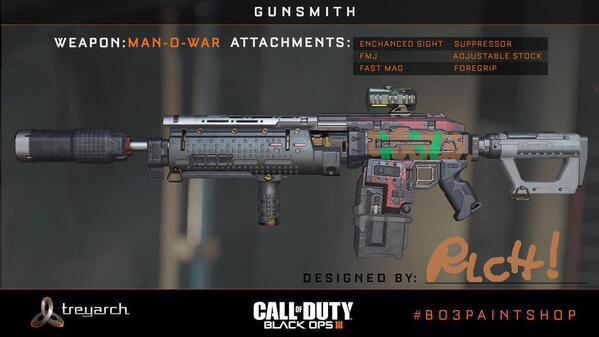 CoD:BO3:新たな武器カスタマイズシステム「ガンスミス」画像公開