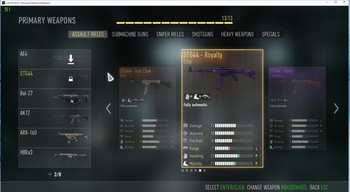 CoD:AW:新武器3種のプレイ映像がリーク(AR, SR, SG)