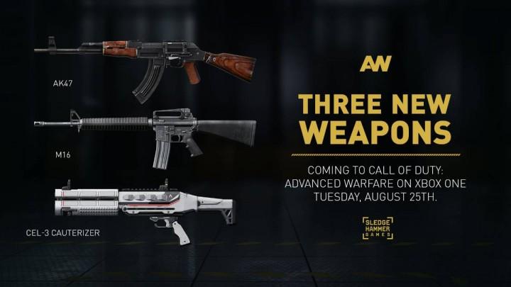 CoD:AW:AK47とM16が復活!ゾンビショットガンを含む新武器3種が間もなく配信