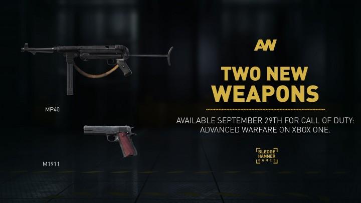 CoD:AW:旧作ファン垂涎の新武器「M1911」と「MP40」登場、9/29配信