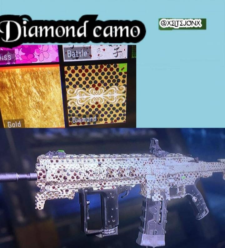 ダイヤモンド、ゴールド迷彩