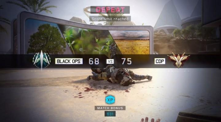 CoD:BO3:マルチの「途中参加での負け」は戦績に反映されず