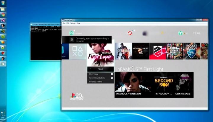 PCでPS4をリモートプレイ、『Remote Play PC』11/26リリース