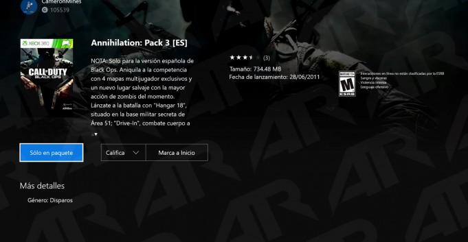 Xbox Oneのリージョンをスペインにすることで確認が可能。