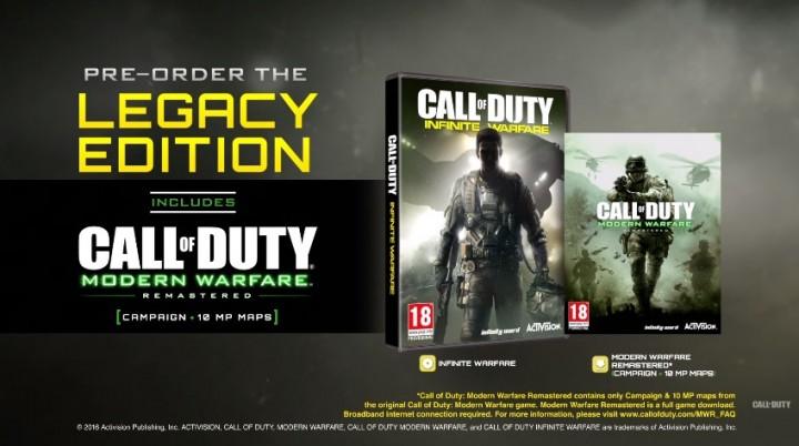 CoD:IW:リマスター版『CoD4:MW』の同梱確定、レガシーエディションやデジタルデラックス版に付属