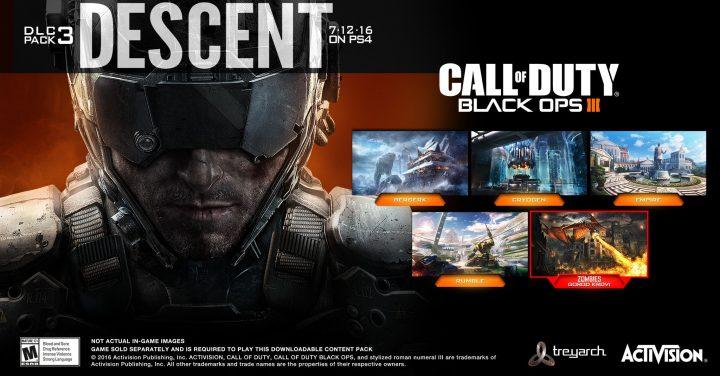 """CoD:BO3:第3弾DLC""""Descent""""のライブストリームは7月12日深夜3時"""