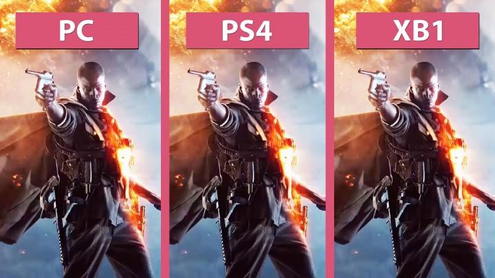 BF1:PC / PS4 / Xbox Oneのグラフィックを比較、家庭用機はやはりPS4に軍配か