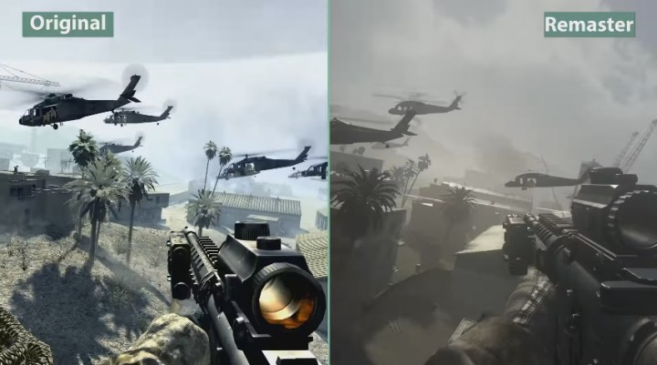 CoD:MWR:オリジナルとリマスター版のグラフィック比較映像公開、完全に別物へ進化