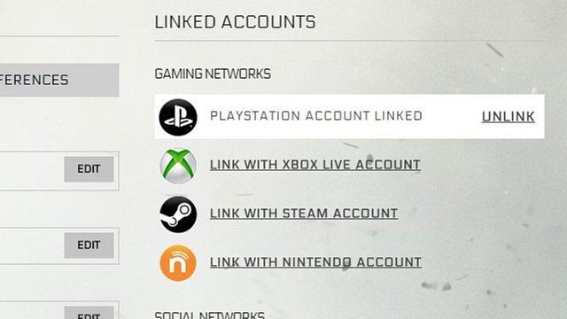 PSNアカウントがリンクされている状態