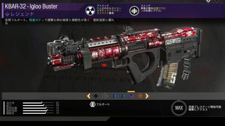 CoD:IW: 最終日のログインボーナスはレジェンド武器「KBAR-32 – lgloo Buster」