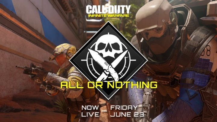 CoD:IW:空のハンドガンと投げナイフのみでゲームモード「All or Nothing」が期間限定で復活