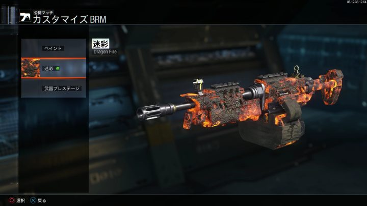 BO3 パック・ア・パンチ迷彩「Dragon Fire」