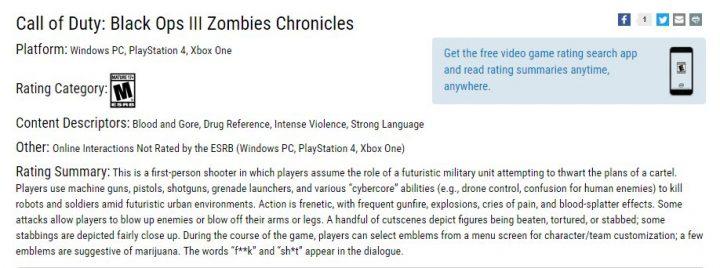 Call of Duty- BO3 Zombies Chronicles