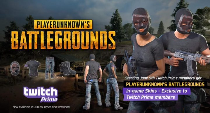 PUBG: Twitch Prime利用者向け限定ゲーム内アパレルの配布が6月9日から開始、残念ながら日本未対応
