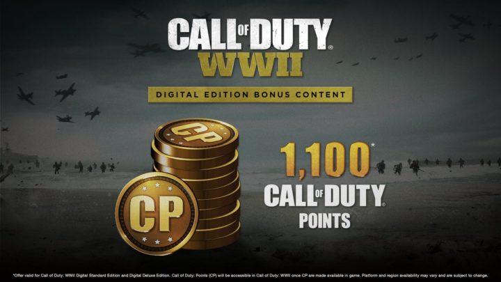 CoD:WWII: 「CODポイント」1,100ポイントは11月22日配布、レアサプライドロップを購入可能