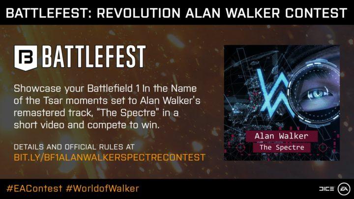 BF1: 公式映像コンテスト開催、鬼才アレン・ウォーカーの楽曲をBGMを使用し豪華賞品も用意