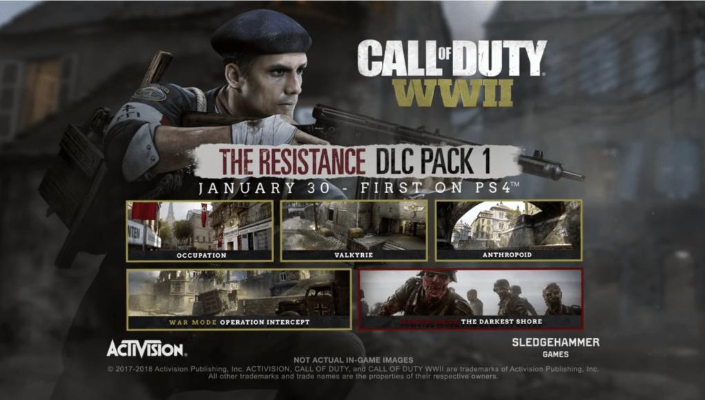 CoD:WWII: 第1弾DLC「The Resistance」トレーラー公開、リメイクマップを含みPS4へ1月30日配信
