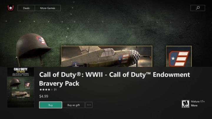 "CoD:WWII: ヘルメットやエンブレム入りの""Bravery Pack""販売開始、売上はすべて寄付(海外)"