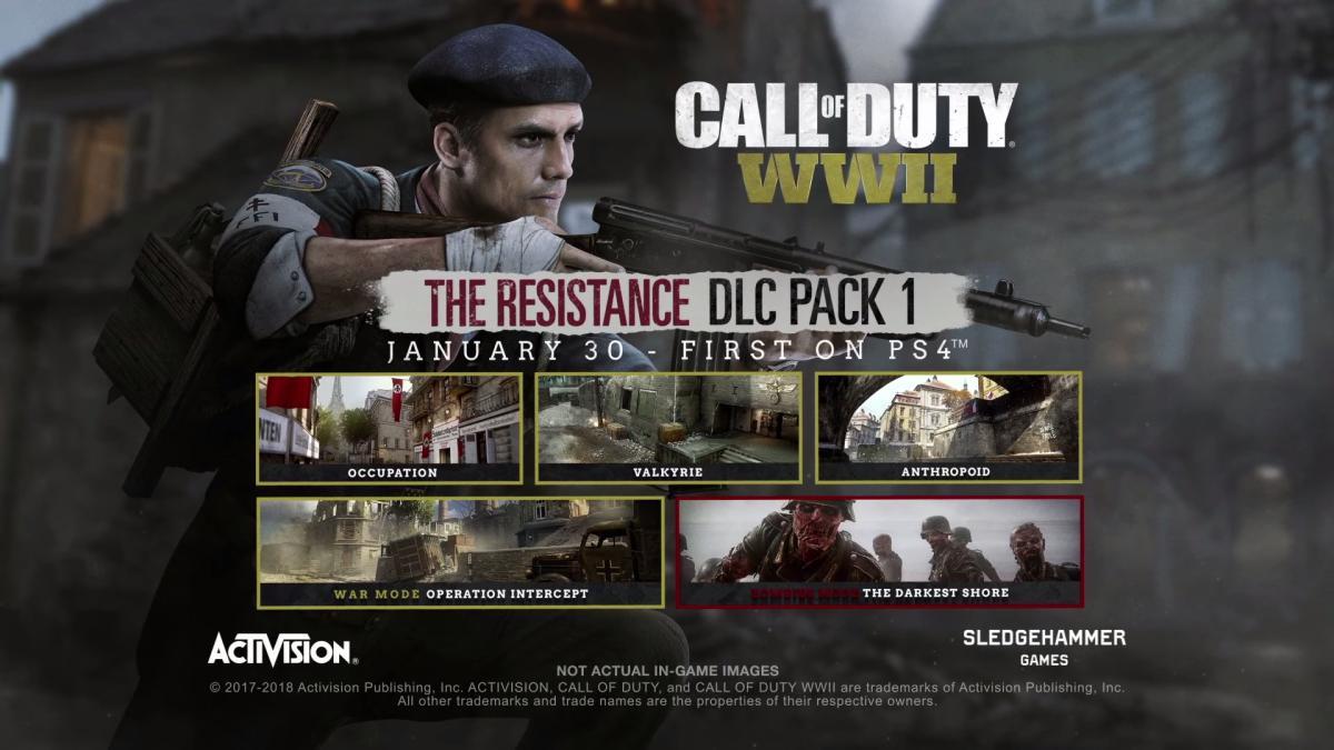 [速報 ] CoD:WWII:第1弾DLC「The Resistance(レジスタンス)」の国内配信開始、発売トレーラー公開(PS4)