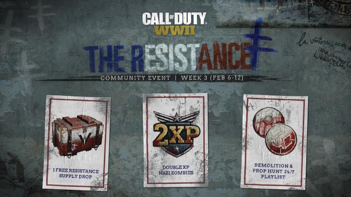 CoD:WWII: イベント「レジスタンス」3週目、新モード「DEMOLITION」&ゾンビモードでダブルXP開催(2月12日まで)