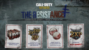 CoD:WWII: 兵士・武器・のダブルXPが全プレイリストで開催、24日から