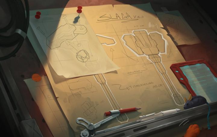 オーバーウォッチ:新ヒーローの特殊な武器「フレイル」の設計図公開