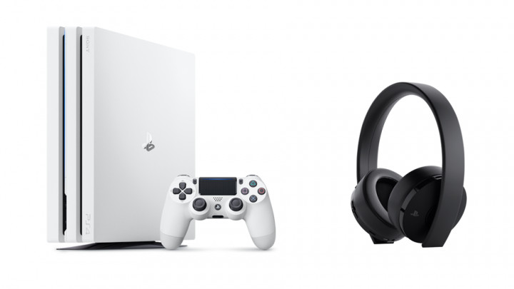 白いPS4 Pro「グレイシャー・ホワイト」 が2018年3月8日数量限定発売、軽量化した「ワイヤレスサラウンドヘッドセット」も同日発売