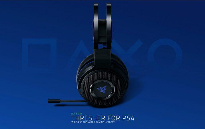 Razer:PS4向けステレオヘッドセット「Thresher for PS4」12月21日発売、ワイヤレス/ワイヤード対応